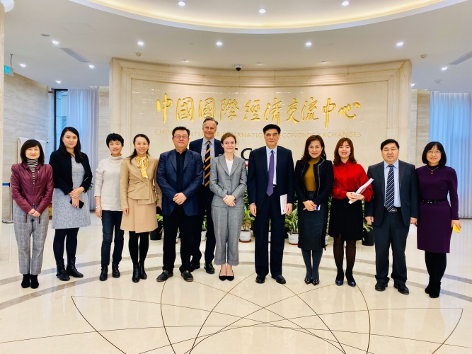 """Will Perform Better Role as Think-tank Platform and Deepen Cooperation with Industrial Sector"": CCIEE Vice Chair and CEO Zhang Xiaoqiang hosts European Chamber delegation"